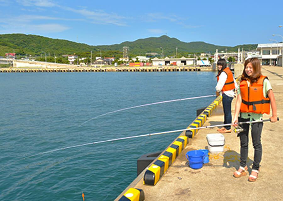 堤防釣り体験